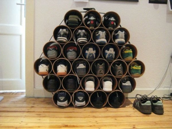 Пластикові труби для зберігання літнього взуття